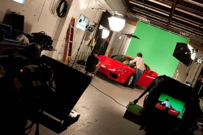 Garage Ferrari shoot