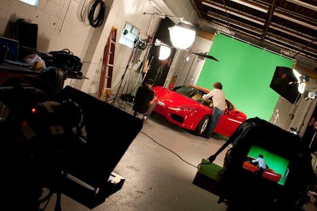 Garage Ferrari shoot