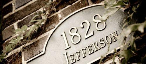 1828 address plate